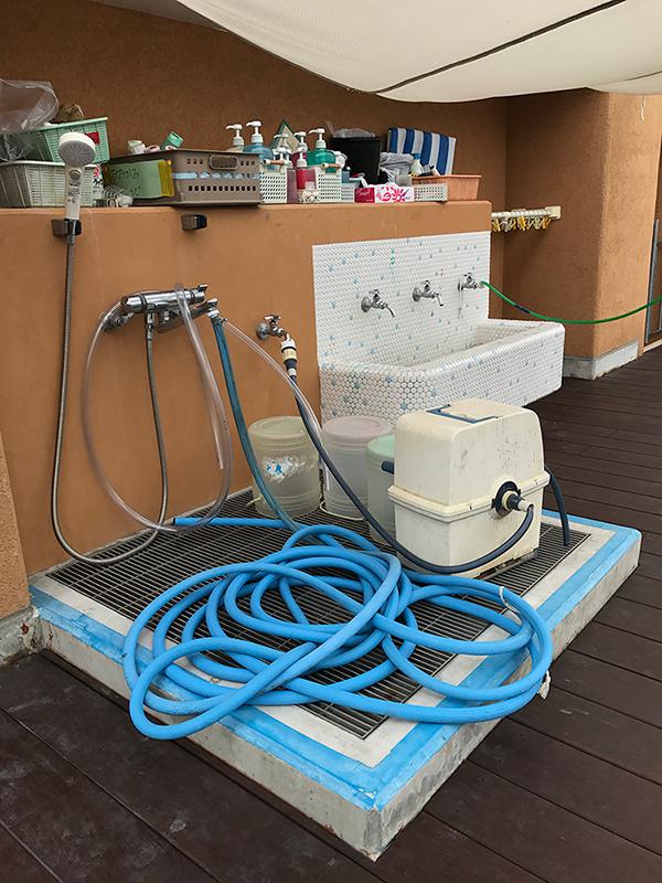 3階の充実した水道設備